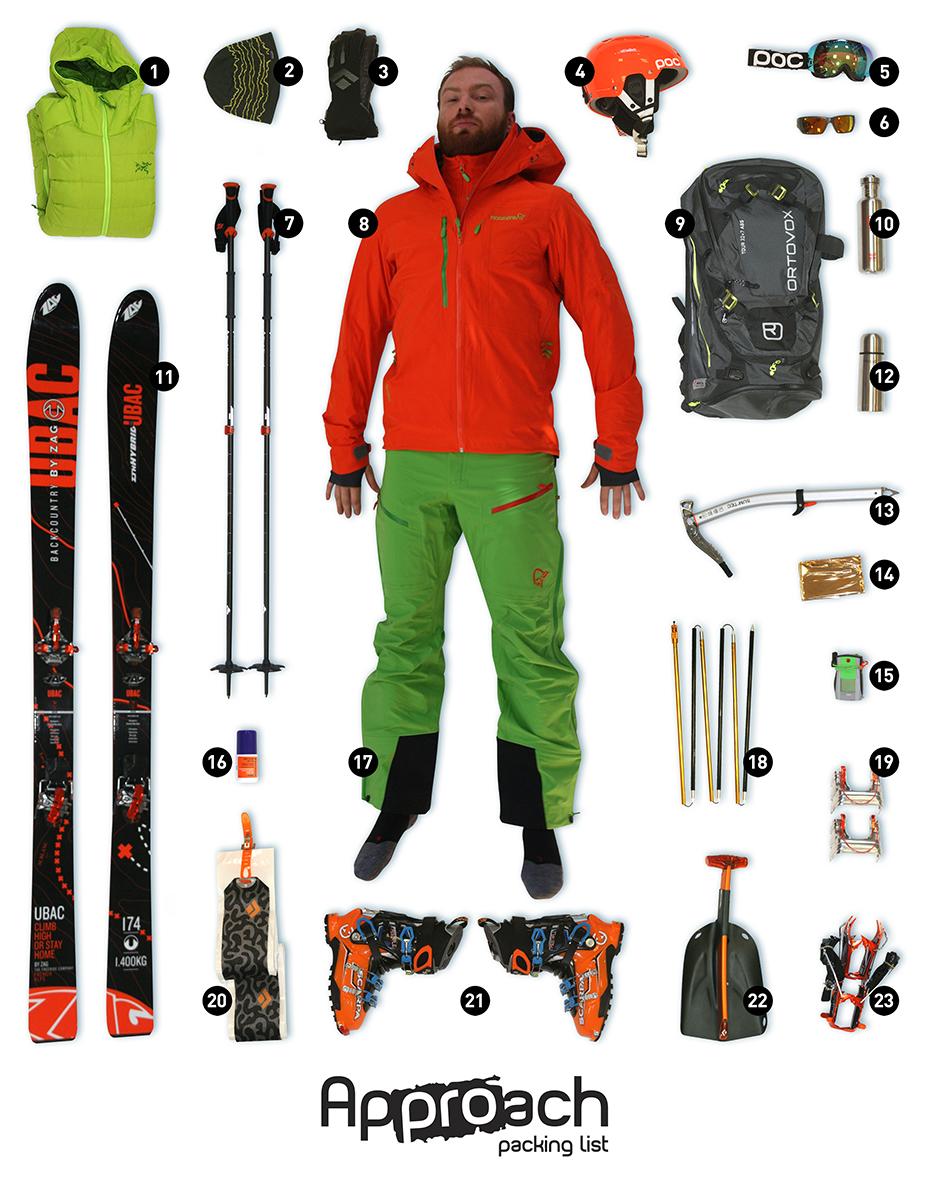 Approach Packing List  Ski Free Rando - Approach Outdoor 3ba6fef3b32