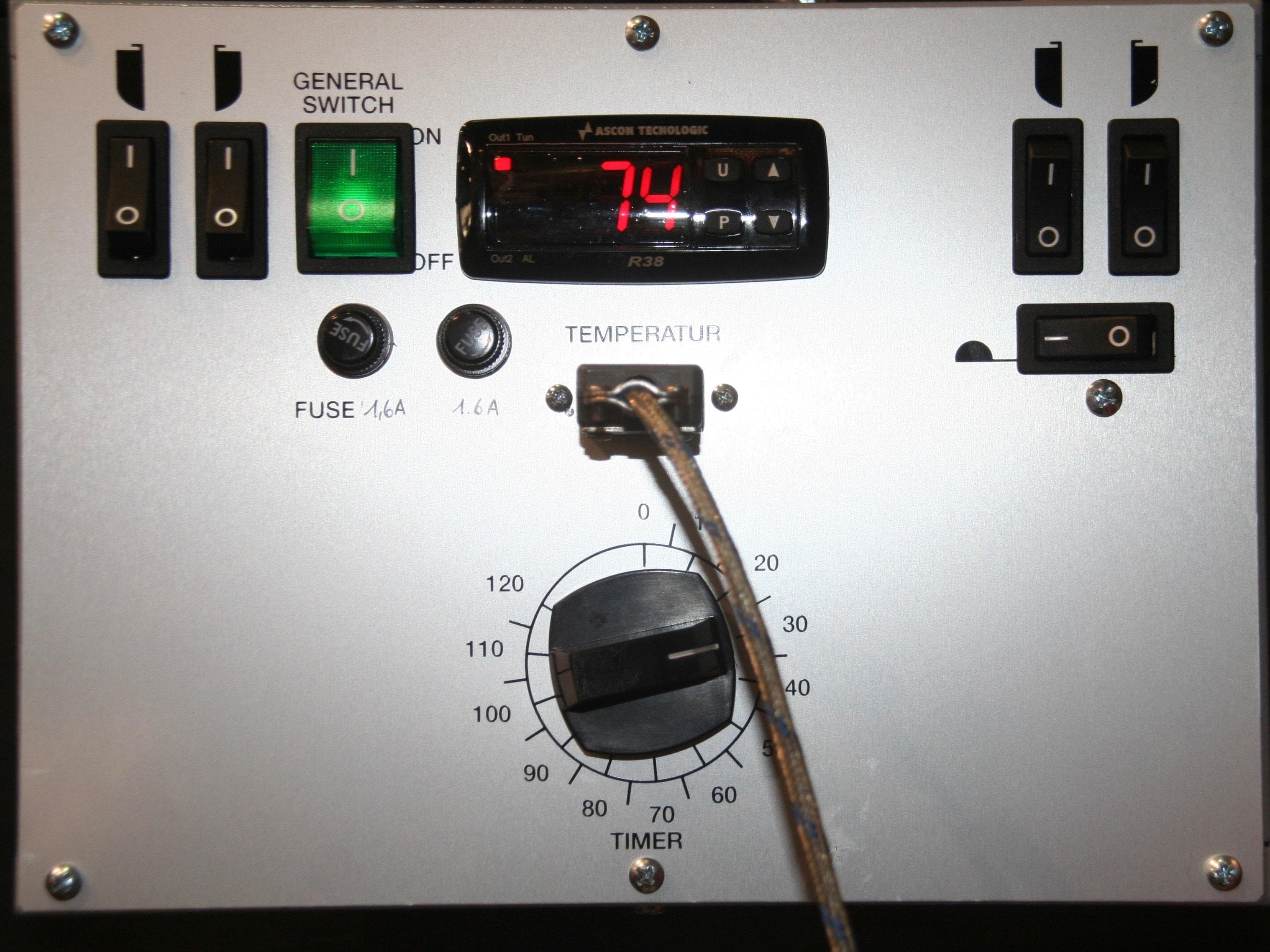 Réglage de la température et du temps de chauffe