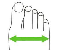 la largeur du pied