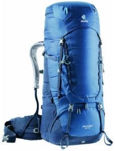 Exemple de sac pour randonnée longue en autonomie : Deuter - Aircontact 65 + 10