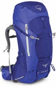 Exemple de sac avec accès par le dessous : Osprey - Ariel ag 65L
