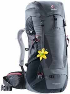 Exemple de sac pour randonnée de quelques jours avec nuit en refuge : Deuter - Futura pro 38 SL