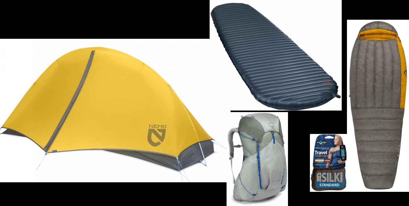 fast hiking materiel